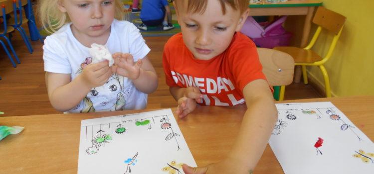 Na kolorowej łące, czyli maluchy artystami